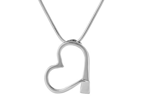 Farrier Nail Heart Necklace - Large