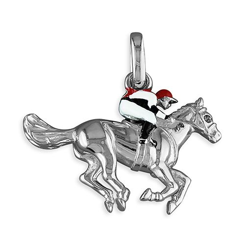 Horse & Jockey Necklace