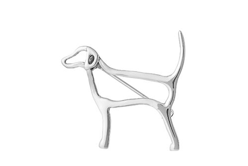 Foxhound Brooch (Silhouette)