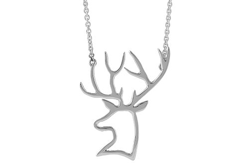 Stag Head Necklace (Silhouette)