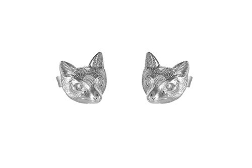 Fox Head Earrings (the Summer Fox)